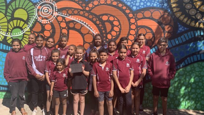 Mural of Belonging Launch with Kokatha students