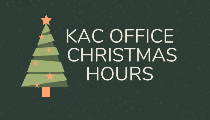 KAC Office Christmas Hours