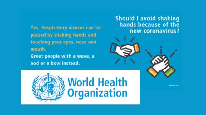 World Health Organisation (WHO) - Coronavirus Guidance
