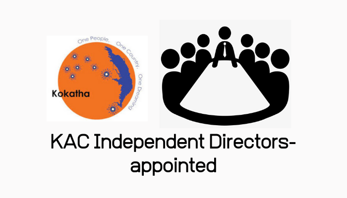 KAC Independent  Directors- appointed