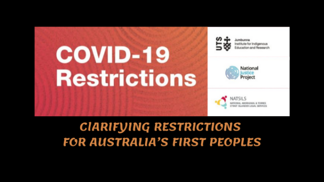 Clarifying COVID-19 Restriction for Australia's First People