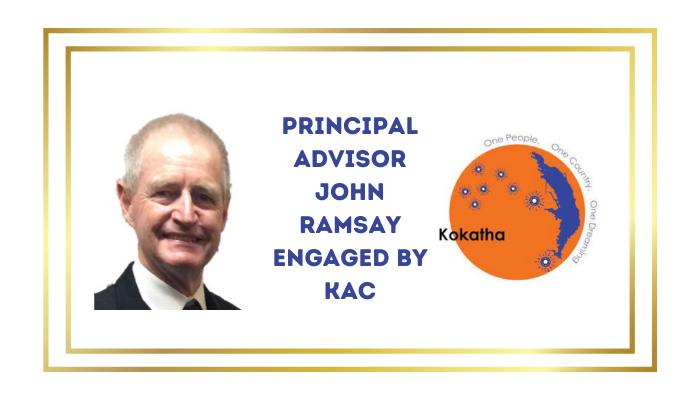 Welcome to John Ramsay – KAC's new  Principal Advisor