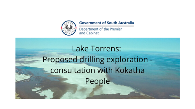 Consultation - Lake Torrens drilling proposal