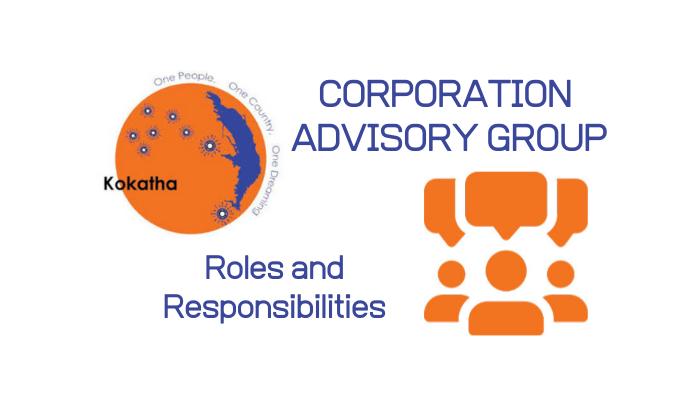 CORPORATION ADVISORY GROUP – Roles & Responsibilities