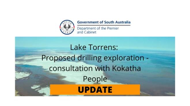 Proposed exploration drilling (Lake Torrens) - Consultation Period Extended
