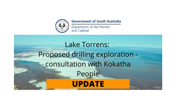 Proposed exploration drilling (Lake Torrens) – Consultation Period Extended