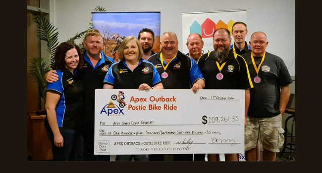 Apex Outback Postie Ride supported by KAC