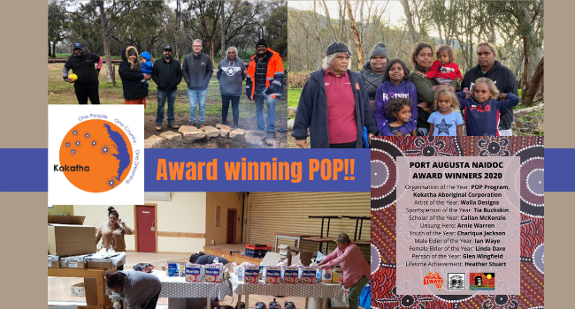 NAIDOC 2020 Award winner - Protecting our People (POP)