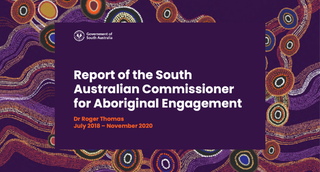 Report of the South Australian Commissioner for Aboriginal Engagement