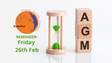 AGM REMINDER: Friday 26th Feb
