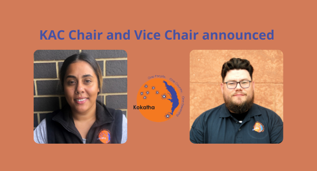 KAC Chair and Vice Chair announcement