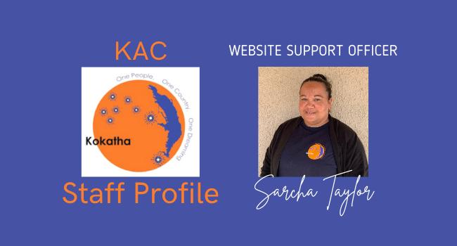 Meet the team - Sarcha Taylor