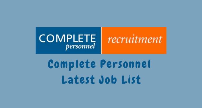 Latest Job List Complete Personnel