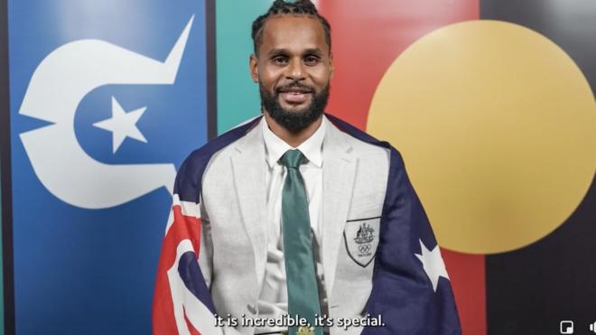 Kokatha man Patty Mills - Olympic Flag Bearer
